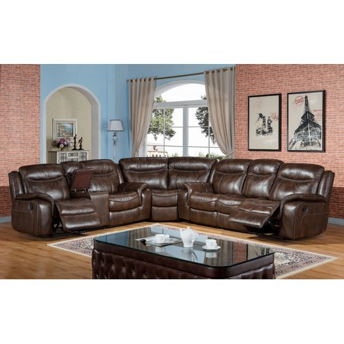 Incroyable Ultimate Accents Reclining Sectional