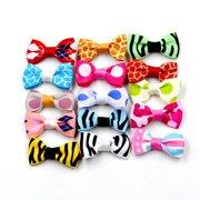 20Pcs Handmade Pet Dog Cat Bowknot Clip Grooming Accessories Headwear