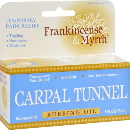 Frankincense and Myrrh Carpal Tunnel Rubbing Oil - 0.5 fl