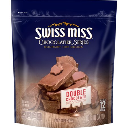 Gourmet Hot Chocolate - (3 Pack) Swiss Miss Chocolatier Series Double Chocolate Gourmet Hot Cocoa Mix, 12.7 oz