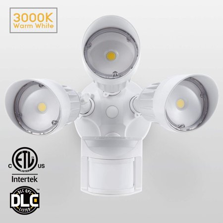Leonlite 30w Led Security Lights With Motion Outdoor Flood Light Photo Sensor 3000k Warm White