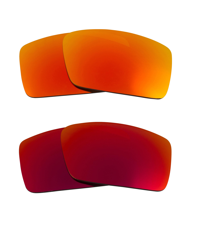 1307892fea722 Seek Optics - Best SEEK Replacement Lenses Oakley Sunglasses GASCAN S Small  Red Yellow Mirror - Walmart.com