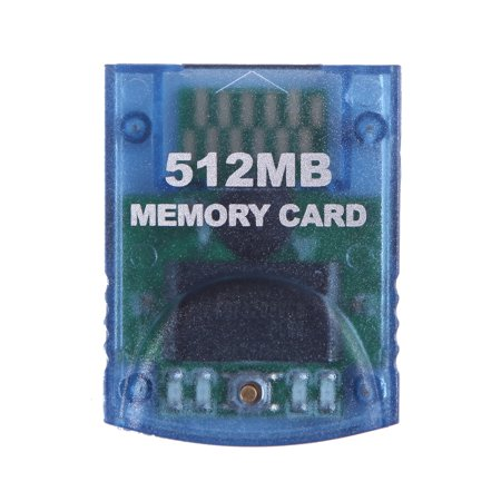 GameCube Memory Card 512MB (8192 Blocks) Storage Capacity Retro Video Game Accessory (Clear Blue)
