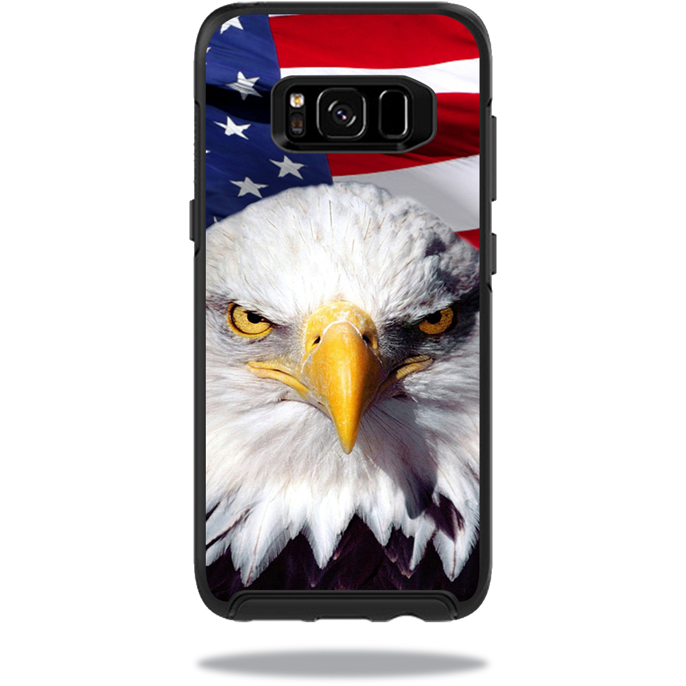 MightySkins Protective Vinyl Skin Decal for OtterBox Symmetry Samsung Galaxy S8 Case sticker wrap cover sticker skins America Strong