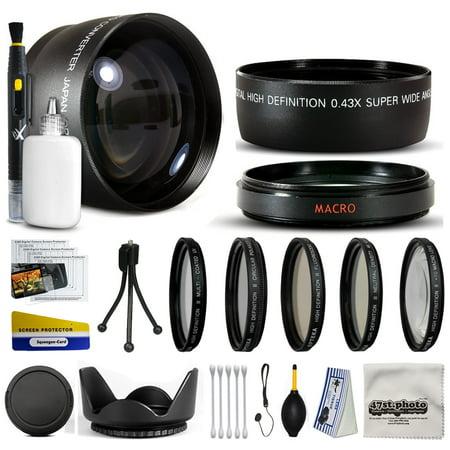 10 Piece Ultimate Lens Package For the Kodak Easyshare Z740 Z710 Z650 ZD710 Digital Camera Includes .43x Macro Fisheye + 2.2x Extreme Telephoto Lens + Pro 5 Piece Filter