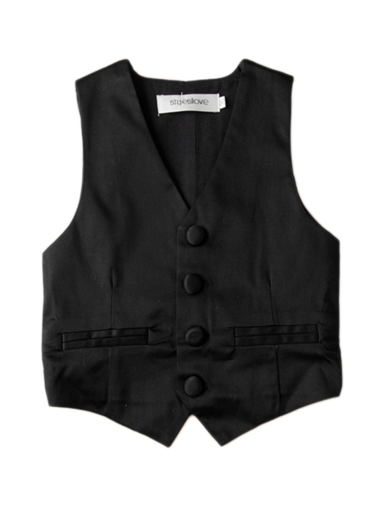 Stylesilove Baby Kids Boy Classic Gentlemen Tuxedo Vest (2-3 Years)