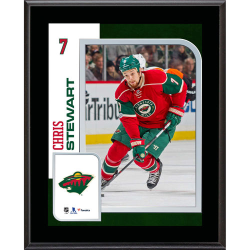 "Chris Stewart Minnesota Wild 10.5"" x 13"" Sublimated Player Plaque - No Size"