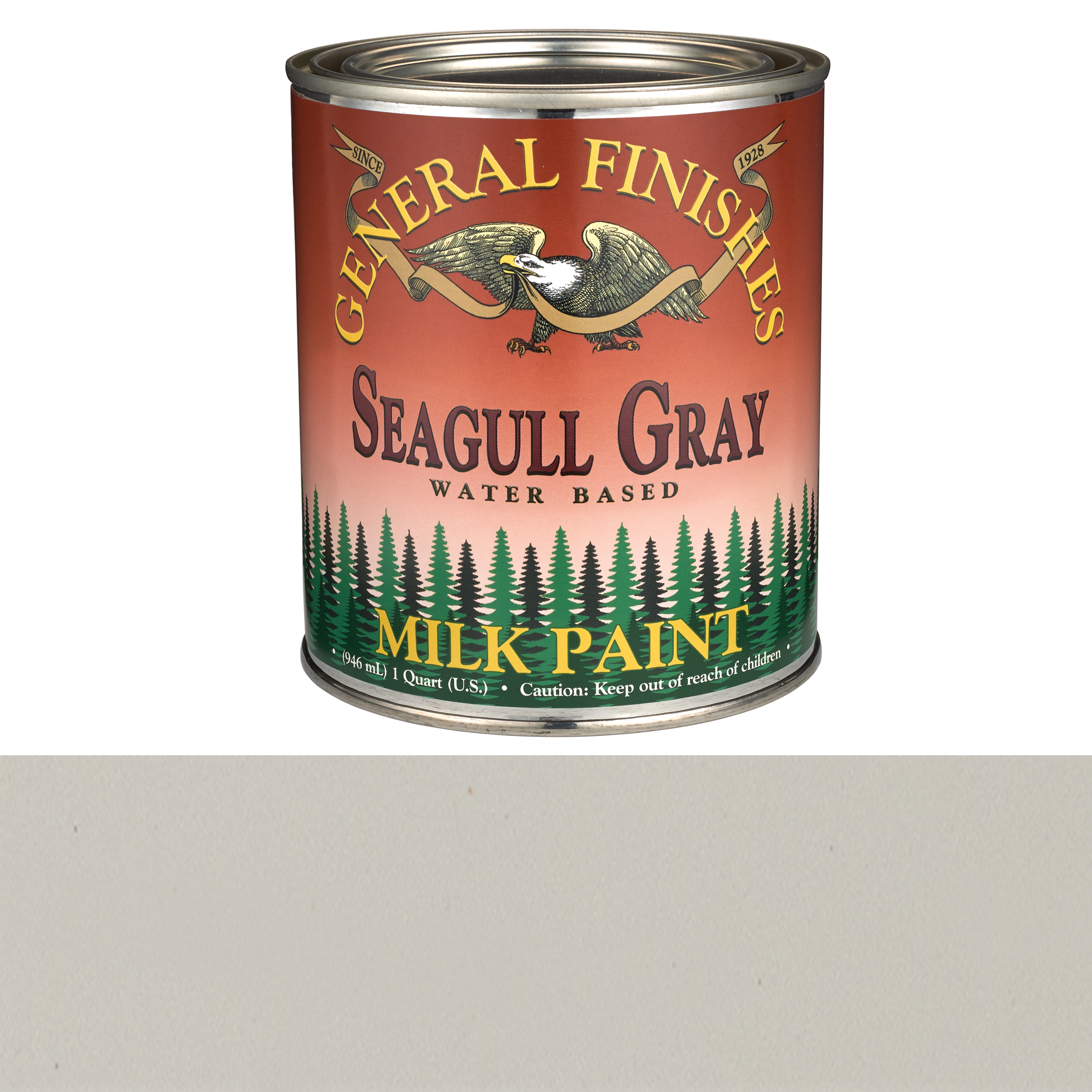 General Finishes Seagull Gray Milk Paint Quart
