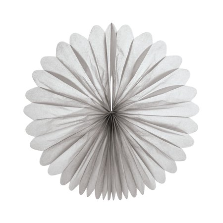Wedding Programs Fans (Hanging Paper Fan (19-Inch, Dove Grey) - Rice Paper Honeycomb Decorations - For Home Decor, Parties, and)
