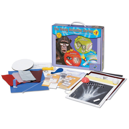 The Young Scientists Club Set 7: Bones and Muscles, The Senses, & Light Science Kit