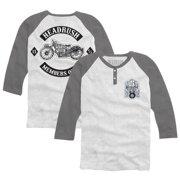 Headrush Members Only 3/4 Sleeve Henley - XL - White/Gray