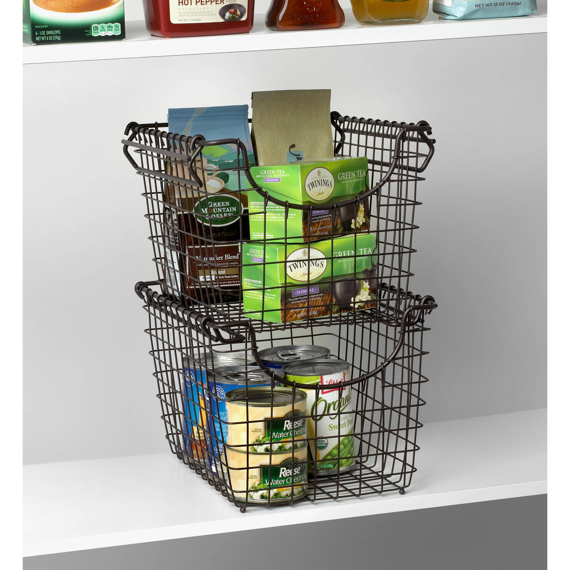 Spectrum Diversified Designs Scoop Small Stacking Basket, Multiple Colors