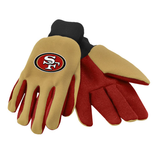 Forever Collectibles San Francisco 49er's Work - Utility Gloves Work or Utility Gloves