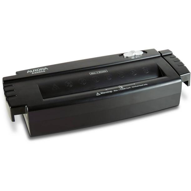 6 Sheet Strip Cut Paper Shredder Black Black Credit Card Shredder for Home Use with 12L Waste Basket