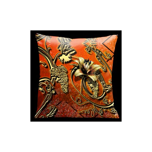 Lama Kasso Como Gardens Filigree Microsuede Throw Pillow