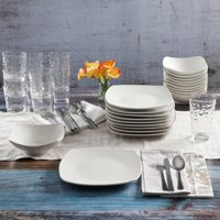 Deals on Gibson Home 48-Pcs White Kitchen Basic Essentials Dinnerware Set