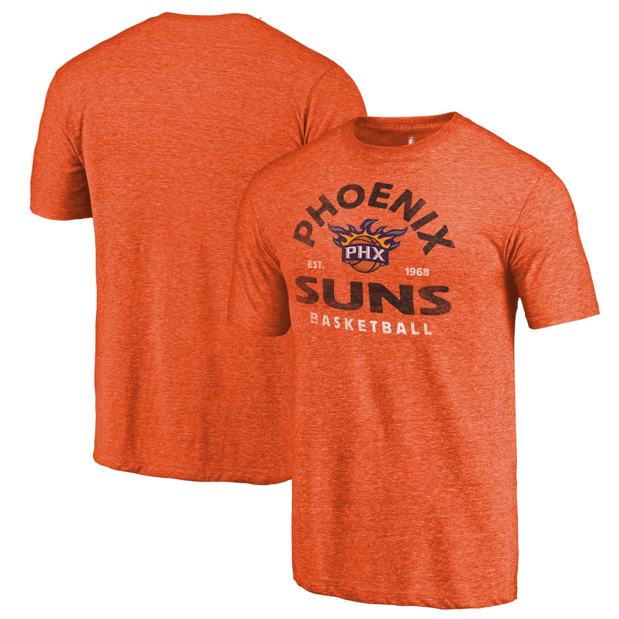 Phoenix Suns Fanatics Branded Vintage Arch Tri-Blend T-Shirt - Orange