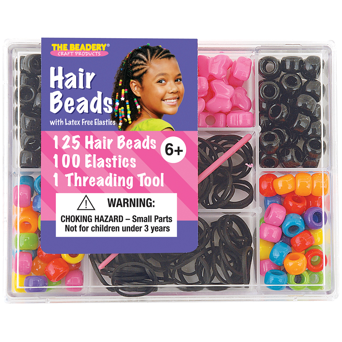 The Beadery Hair Bead Box, Bright
