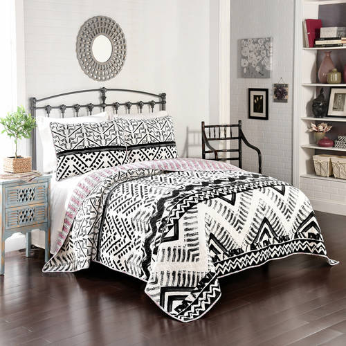 Better Homes and Gardens Aztec Chevron Quilt, Black and White by Ellery Homestyles