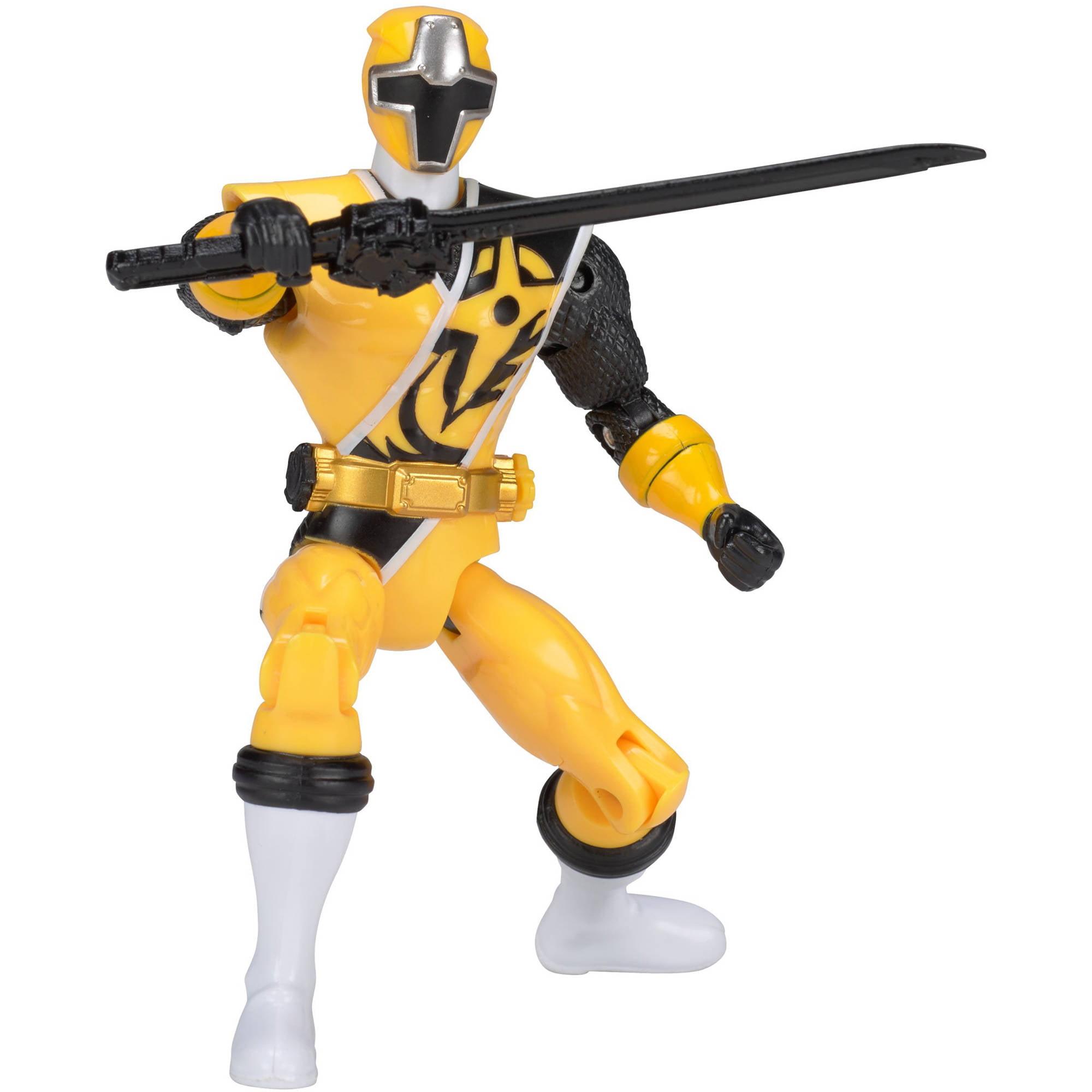 "Power Rangers Ninja Steel 5"" Yellow Ranger Action Hero by Bandai America, Inc"