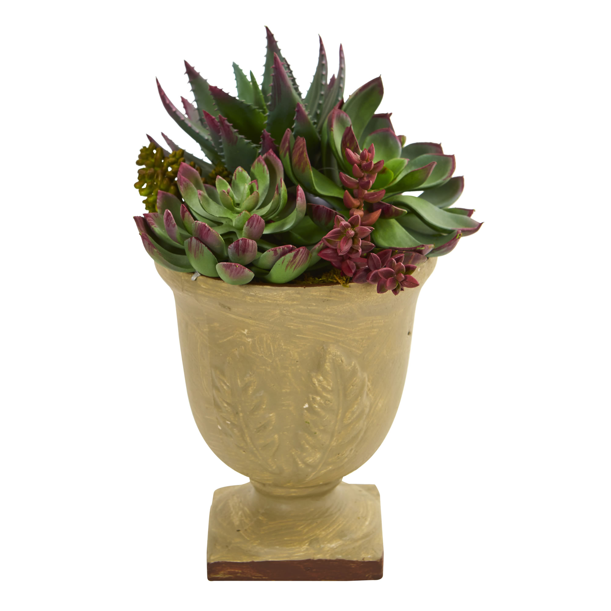 """Nearly Natural 12"""" Mixed Succulent Artificial Plant"""