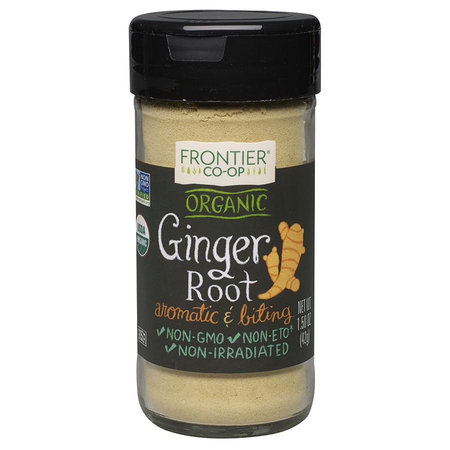 Frontier Ground Ginger Root, Certified Organic, 1.5 Oz