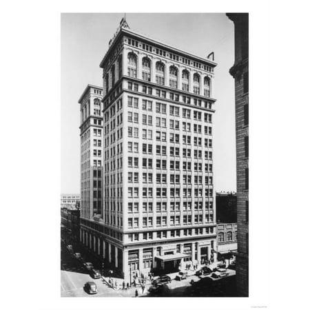 Spokane, WA View of Old National Bank Building Photograph - Spokane, WA Print Wall Art By Lantern Press ()