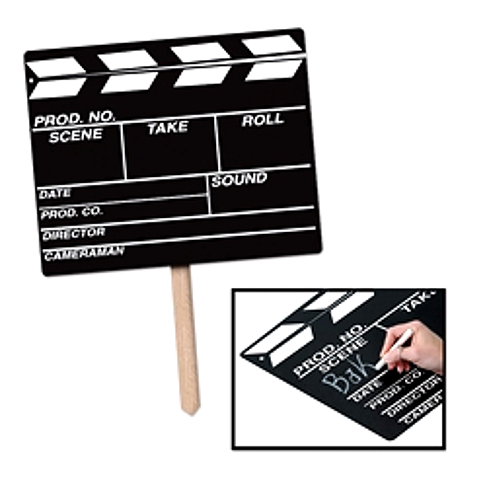 Beistle Movie Set Style Clapboard Chalkboard Yard Sign, 22 X 12 inches