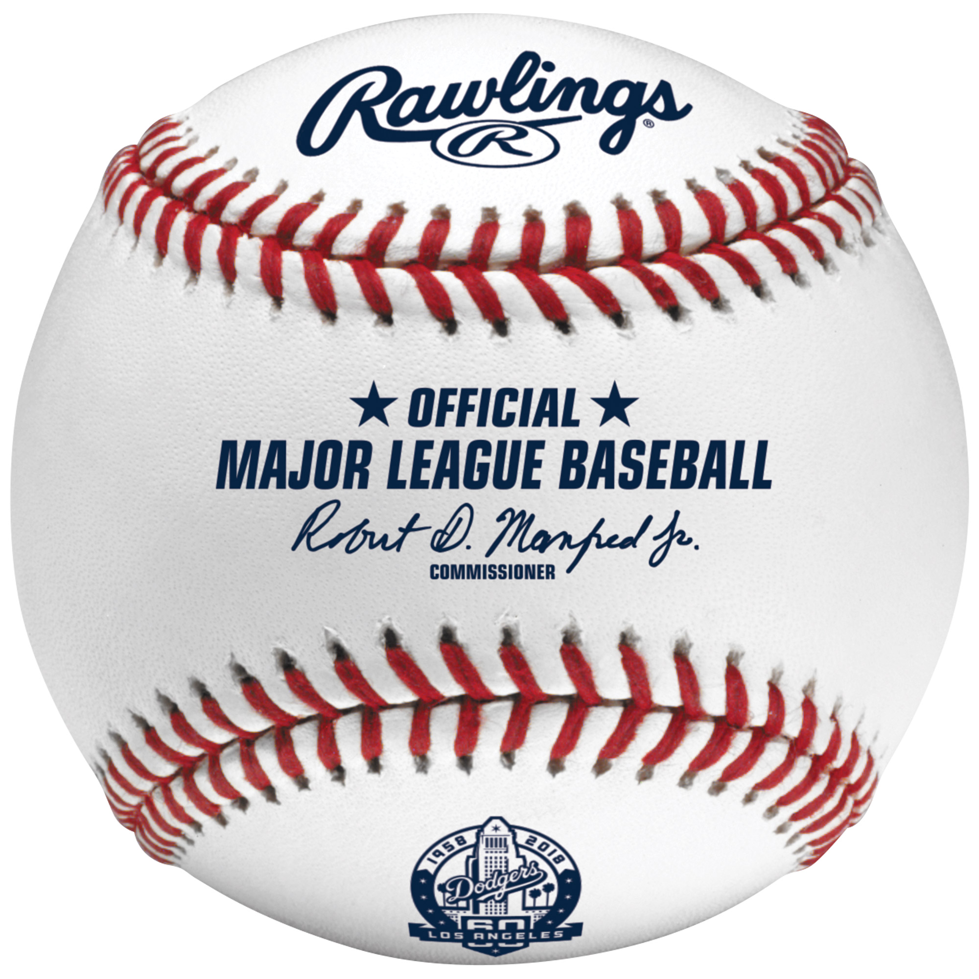 Los Angeles Dodgers Rawlings 60th Anniversary Baseball - No Size