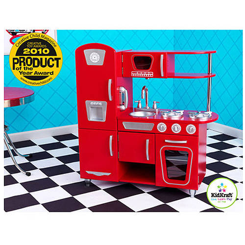 KidKraft Vintage Wooden Play Kitchen, Red
