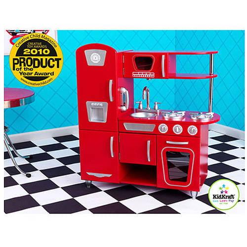 KidKraft Vintage Wooden Play Kitchen, Red