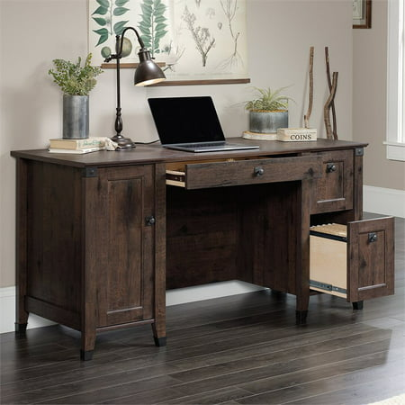 Sauder Carson Forge Computer Desk in Coffee Oak - image 12 de 18
