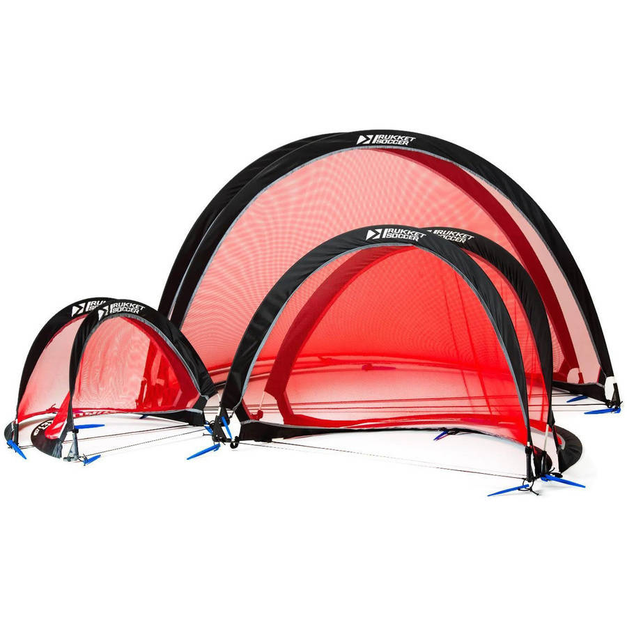 rukket half moon popup soccer goals portable nets with carry bag size - Pop Up Soccer Goals