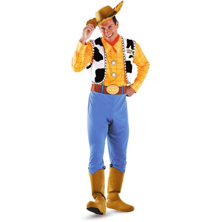 Toy Story Deluxe Woody Adult Halloween Costume](Costumes Halloween For Adults)
