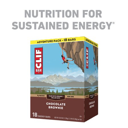 Cookie Brownie Bars - Clif Bar, Chocolate Brownie, 2.4 Oz, 18 Ct