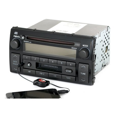toyota 2002 2004 camry le radio am fm cd cassette w aux input 86120 aa040 16823 refurbished. Black Bedroom Furniture Sets. Home Design Ideas