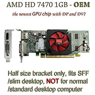 Amd Radeon Hd 7470 1gb 1024mb Low Profile Card With Display Port And Dvi For