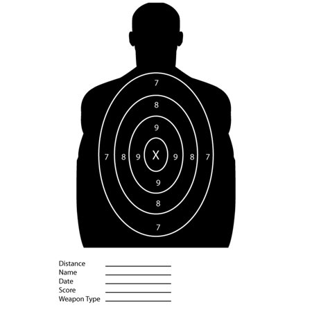 Black Silhouette Paper Shooting Targets For The - Silhouette Shooting Targets