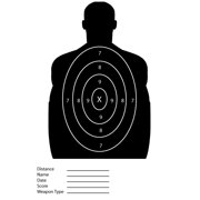 Black Silhouette Paper Shooting Targets For The Range