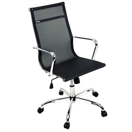 Costway Modern Ergonomic Mesh High/Mid Back Executive Computer Desk Task Office Chair (High Black) ()