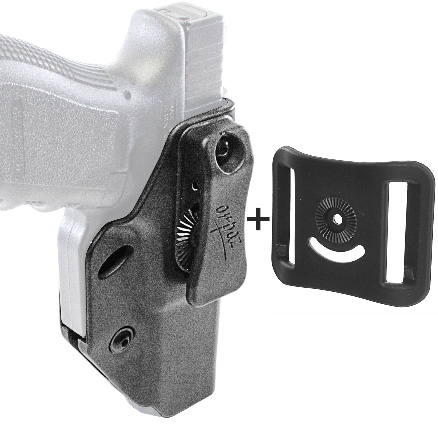 Orpaz Glock Left Hand Concealed Carry Holster IWB Holster & OWB Belt Attachment by Orpaz