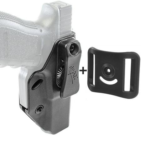 Orpaz Glock Left Hand Concealed Carry Holster IWB Holster & OWB Belt (Best Glock Trigger For Concealed Carry)
