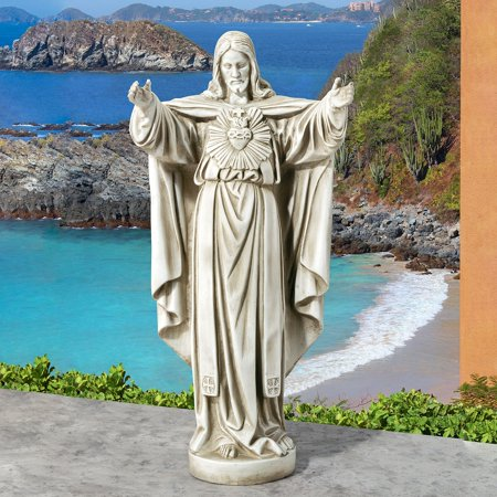 Design Toscano The Sacred Heart of Jesus Spiritual Garden Statue