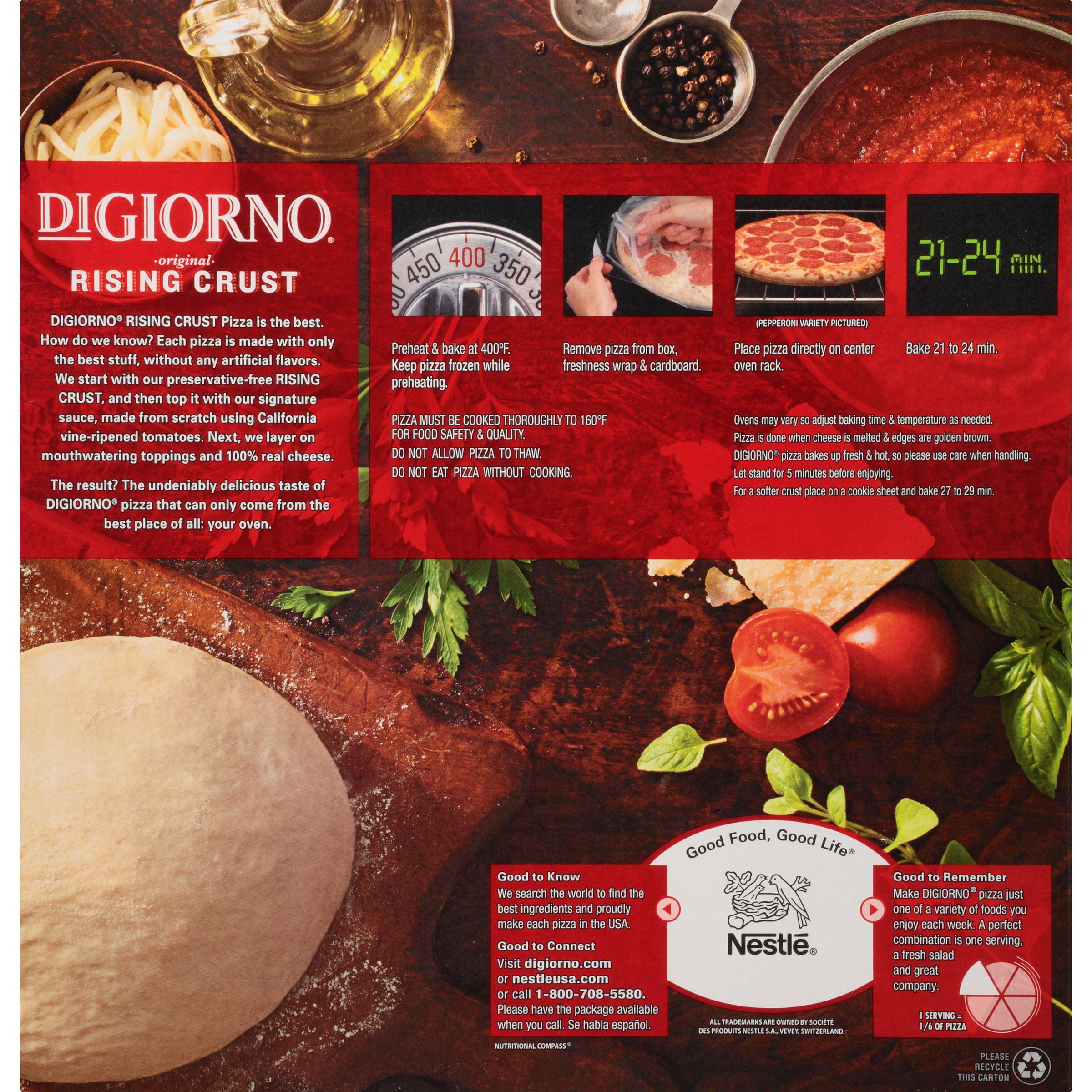 How To Cook A Pizza Digiorno Rising Crust Sausage Pepperoni Pizza 303 Oz Box