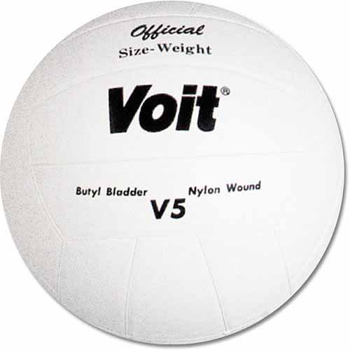 Voit V5 Rubber Cover Volleyball, White