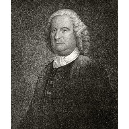 Philip Livingston 1716 To 1778 American Statesman And Founding Father A Signatory Of Declaration Of Independence 19Th Century Engraving By JB Longacre After An Original Painting Stretched Canvas - Ke