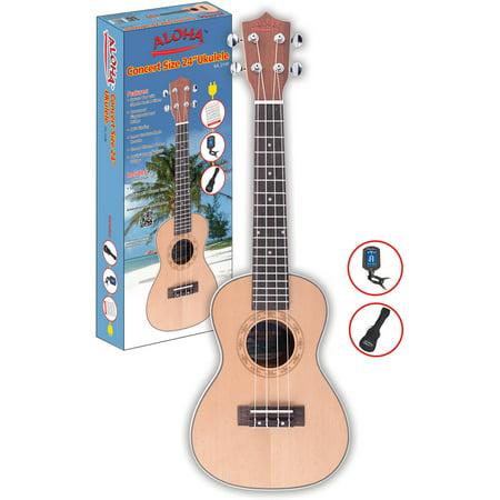 Image of Aloha AIL 214R Concert Ukulele with Gig bag and Ukulele Tuner