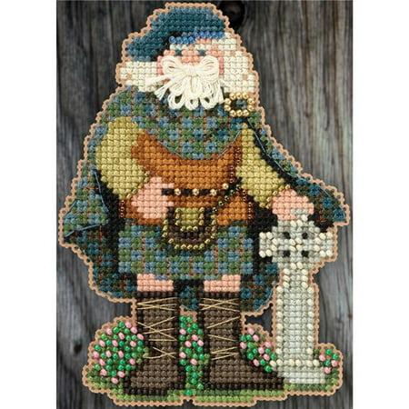 Scotland Santa Mill Hiill Celtic Santas Counted Cross Stitch Kit - 3 x 4.75 in. - image 1 de 1