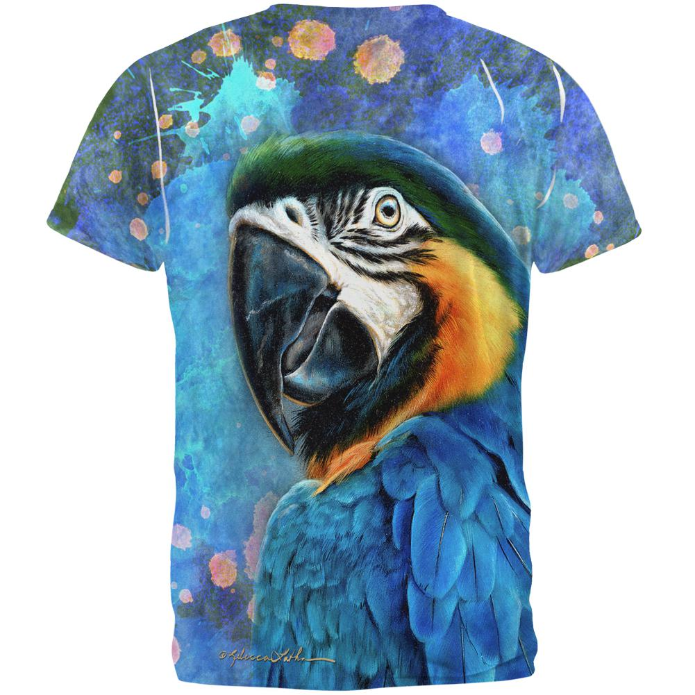 Exotic Blue Gold Macaw All Over Mens Tank Top