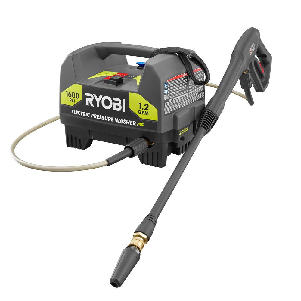 Ryobi 1,600-PSI 1.2-GPM Electric Pressure Washer RY141612 by